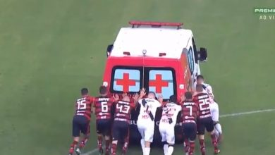 ambulanza calcio vasco flamengo